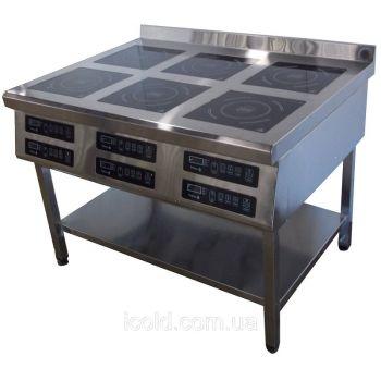 Плита индукционная 6ти конфорочная 2,8 кВт напольная (800 линия) - Tehma
