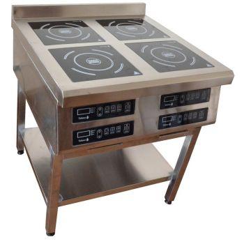 Плита индукционная 4х конфорочная 3,5 кВт напольная (800 линия) - Tehma